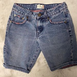 Levi's jeans shorts with pink stitching